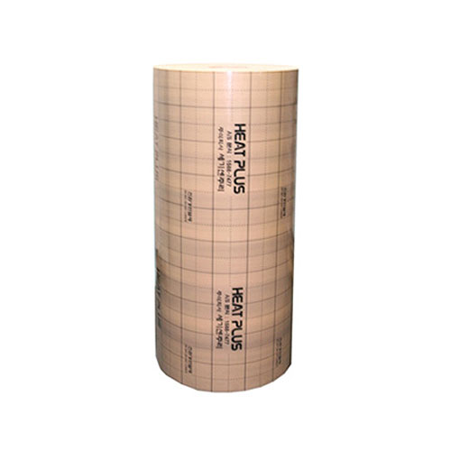 Specialus paklotas grindinio šildymo plėvelėms