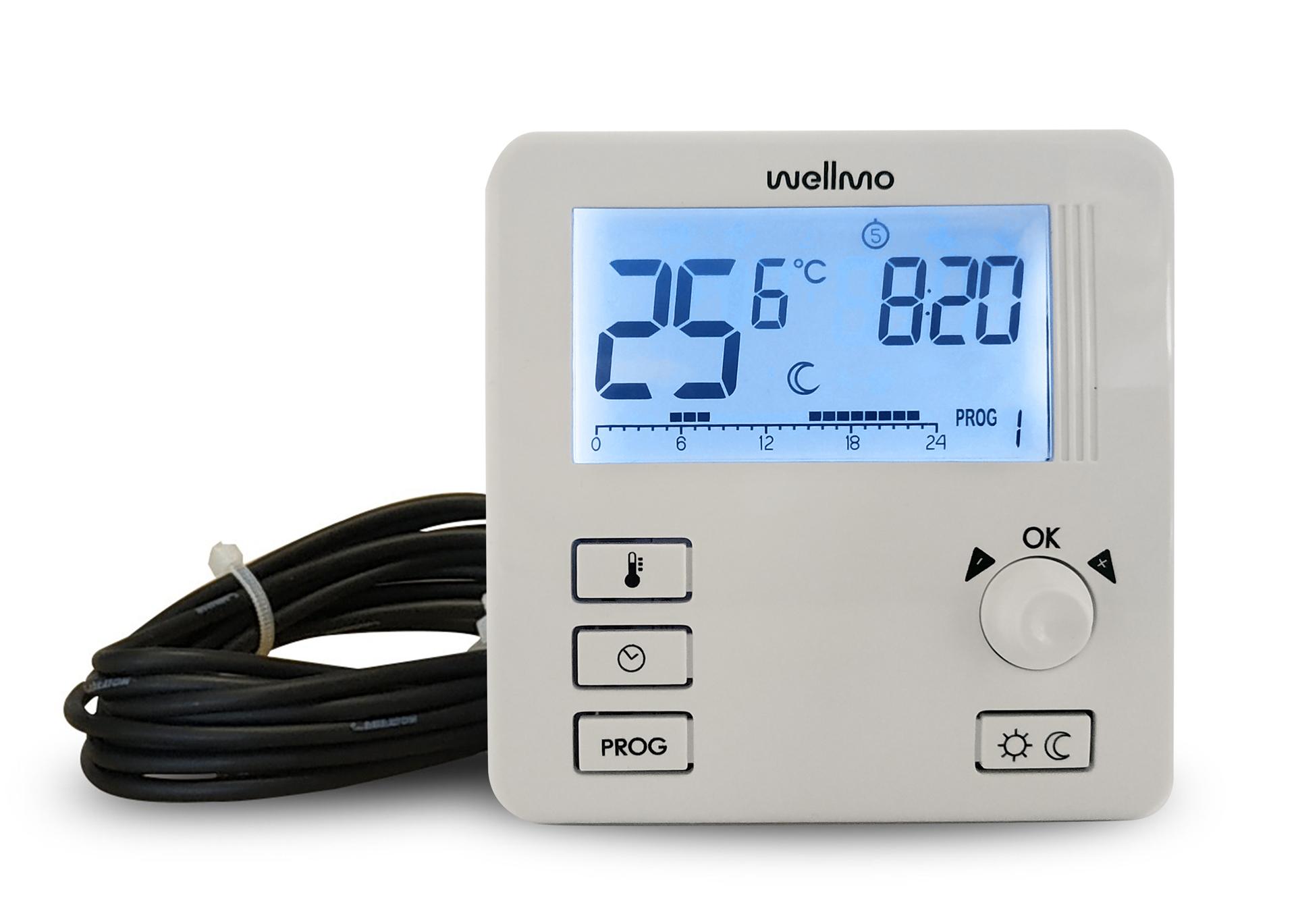 Elektroninis programuojamas termostatas Wellmo WTH30.21 TWO